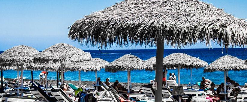 Beach, Santorini, Greece, Holiday, Travel, Marine