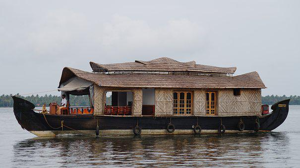 Lone House, House On Waters, Kerala, Boat House