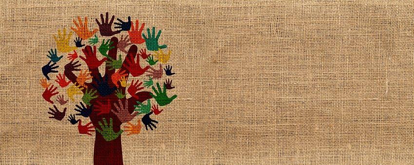 Integration, Volunteers, Hands, Tree, Grow, Voluntary