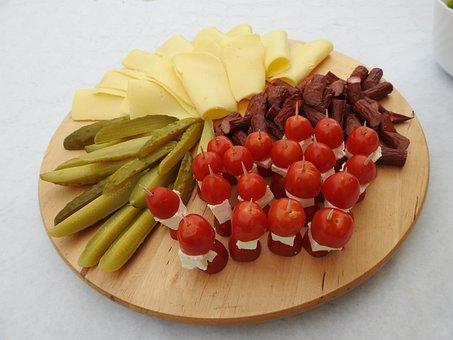 Snap, Tomato Cocktail, Kabanos, Yellow Cheese