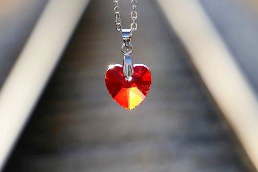 Red Heart Medallion, Love Symbol, Lost Love, Railway