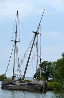 Ship, Boat, Sailing Ship, Mast, Sailing Boat, Wreck