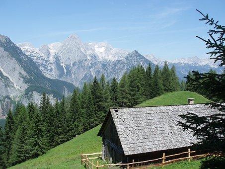 Mountains, Upper Austria, Mountain Hut, Summit, Nature