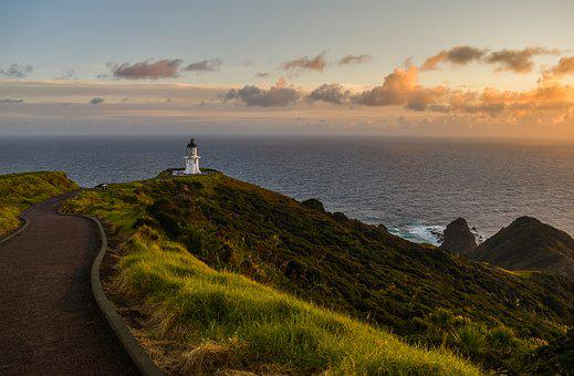 New Zealand, West, Sun, Nature, Sky, Clouds, Landscape