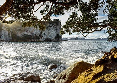 New Zealand, North Island, Nature, Sea, Sky, Scenic