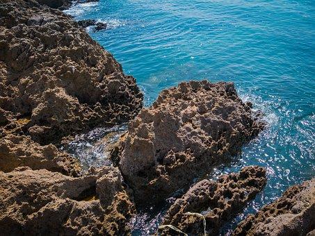 Sea, Rock, Water, Ocean, Coast, Beach, Nature, Sunset