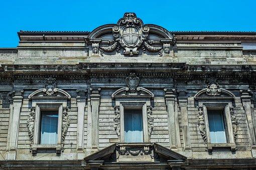 Building, Architecture, Facade, Windows, Old, Milan