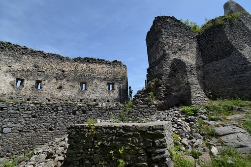 Castle, Rom, Middle Ages, Wall, Old