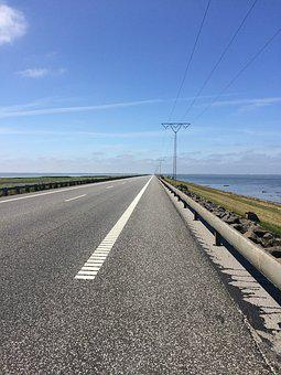 Road, Away, Perspective, Dam, Infinity, Travel, Asphalt