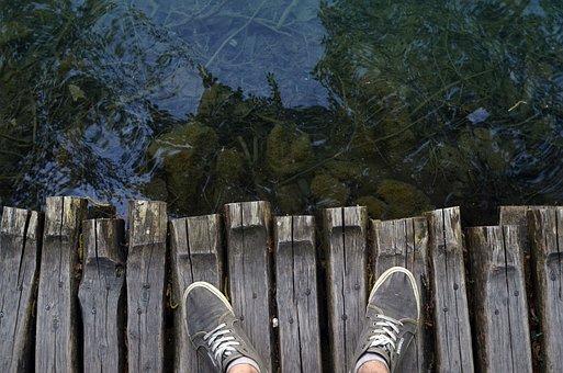 Plitvice Lake, Minimal, Young, Nature, Water, Bridge