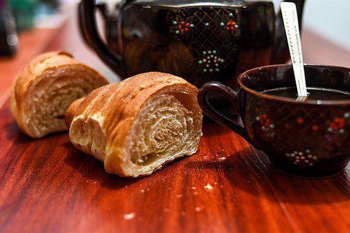 Bread, Cup, Tea, Drink, Relaxation