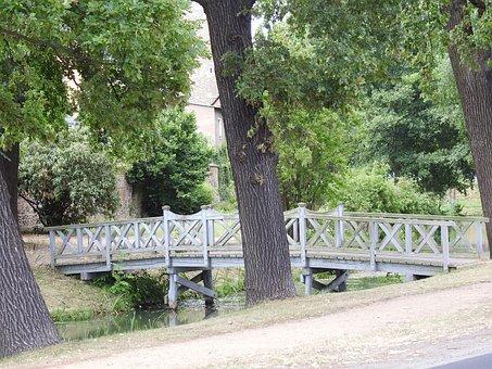 Bridge, Footbridge, Water, River, Wooden Bridge, Nature