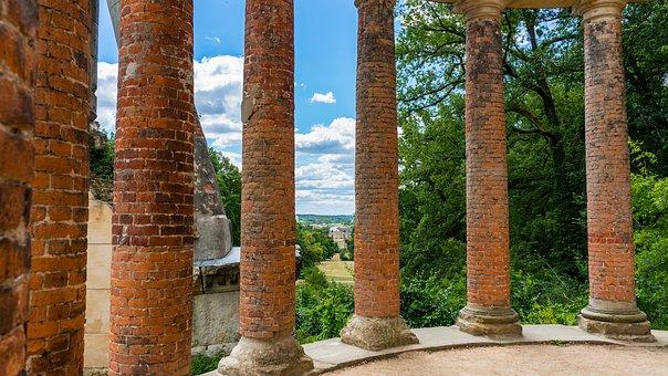 Ruinenberg, Columnar, View, Stone, Architecture