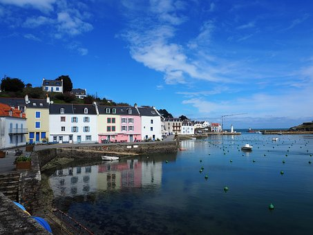 Brittany, France, Sauzon, Port, Belle-ile-en-mer