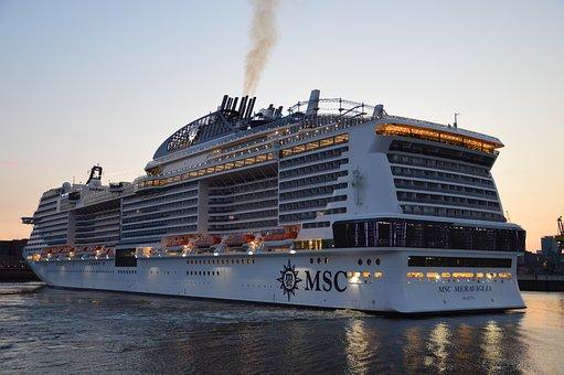 Ship, Elbe, Hamburg, Port, Port City, Sea, Shipping