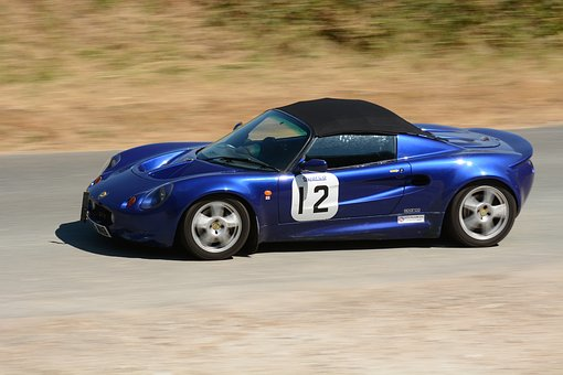 Lotus, Blue, Race Car, Competition, Speed, Hillclimb