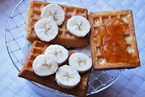 Waffles, Tasty, Breakfast, Dish, Nutrition, Waffle