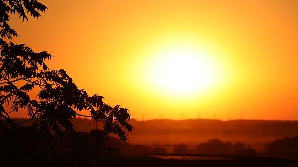 Sunset, The Sun, Twilight, Romantic, Landscape, Nature
