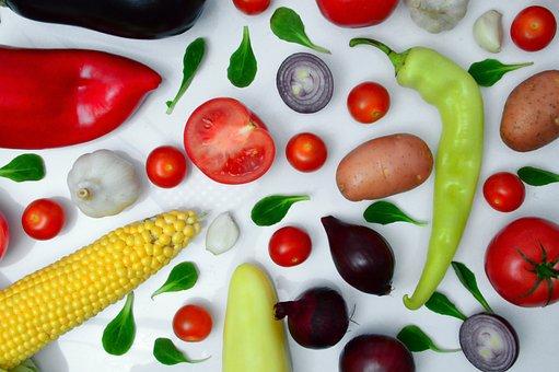 Vegetables, Pepper, Tomato Onion Gokhagyma, Purple