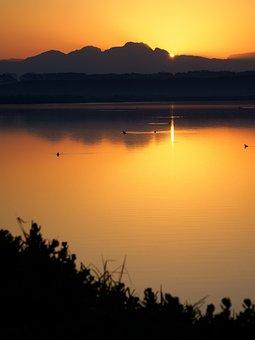 Sunrise, Cape Town, Sunset, Water, Lake, Sky, Sun