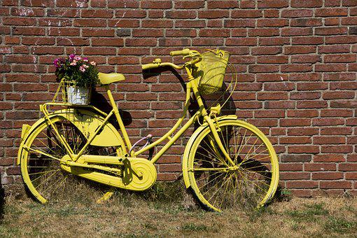 Bike, Deco, Decoration, Turned Off, Garden, Wheel