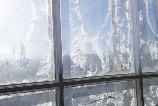 Window, Day, Cold, Ice, Rime, Glass, Bright, Wooden