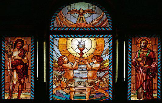Lenno, Church Window, Apostle, Shepherd, Church