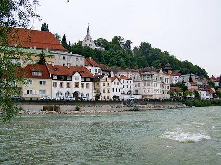 Steyr City, Enns River, Austria