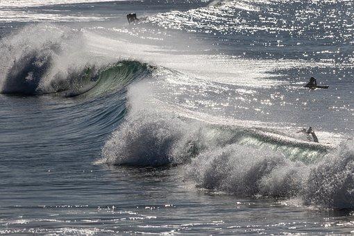 Ocean, Waves, Breaking, Surf, Sea, Wave, Water, Blue