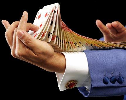 Card, Trump, Magician, Magic, Flourish