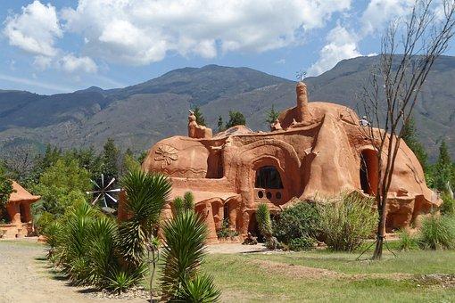 Colombia, Villa De Leyva, Casa Terracota, Travel