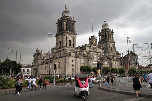 Cathedral, Metropolitan, Catholic, Mexico, Zocalo, Main
