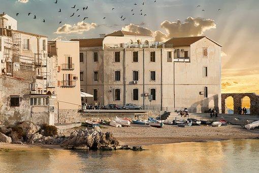 Cefalù, Borgo, Costa, Architecture, Old, Sicily, Waters