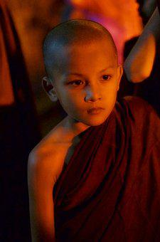 Child, Monk, Burma, Buddhist, People, Myanmar, Buddha