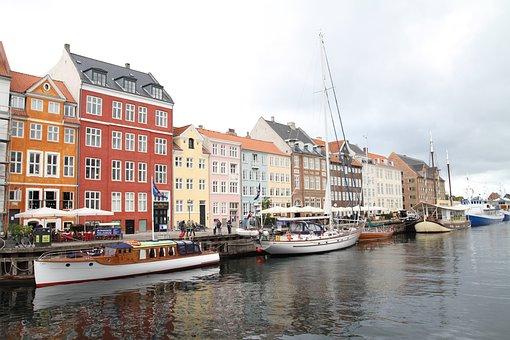 Denmark, Ship, Canal, Sea, Water, Port, Boat, Coast