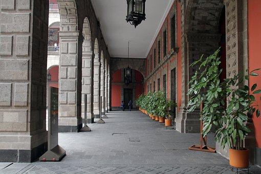 Columns, Aisle, Corridor, Architecture, Pattern