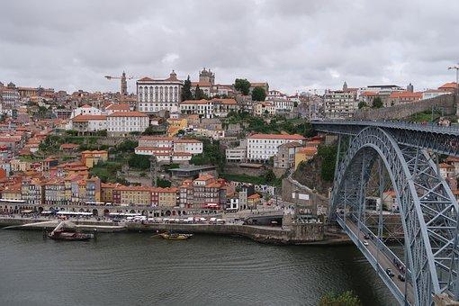 Porto, Bridge, River, Douro