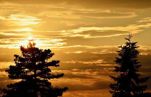 Sunset, Abendstimmung, Sky, Evening Sky, Dusk, Evening
