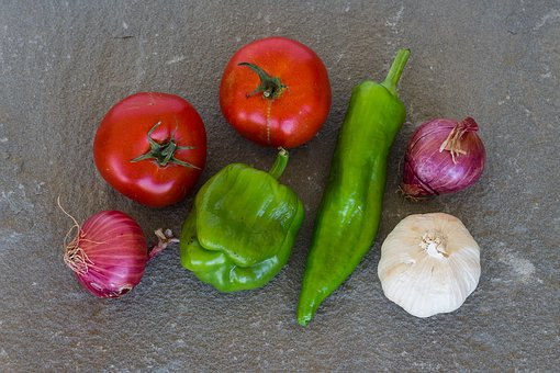 Vegetables, Tomatoes, Peppers, Fresh, Healthy, Red