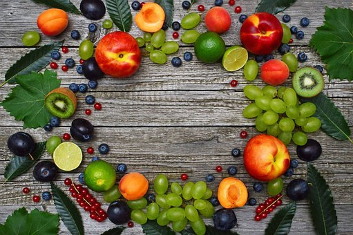 Fruits, Melon, Peach, Grape, Apricot, Fruit, Healthy