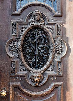 Architecture, Door, Historicism, Carving, Building