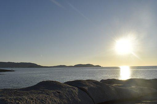 Sun, Sea, Sunset, Coast, Holiday, Evening, Atmospheric