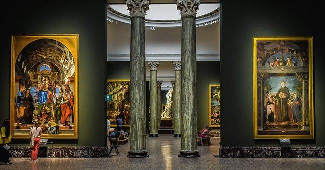 Pinacoteca Di Brera, Art, Paintings, Interior, Gallery