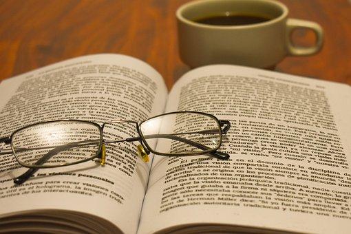 Lenses, Book, Reading, Sunglasses, Light, Coffee