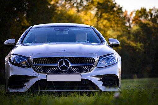 Mercedes, Benz, Silver, Modern, Vehicle, Transport