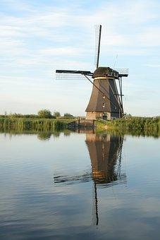 Mill, Kinderdijk, Holland, Netherlands, Tourism