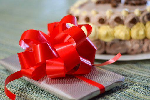 Present, Gift, Cake, Package, Celebration, Ribbon