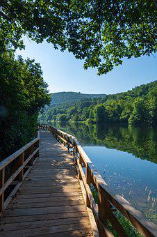 Rur, Heimbach, Eifel, Nature, Reservoir, Path, Away