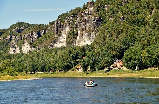 Kurort, Rathen, Saxon, Switzerland, Elbe, River