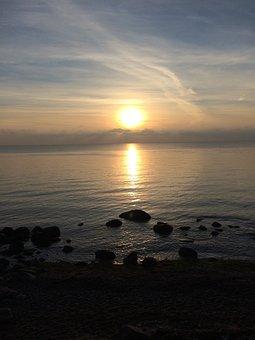 Sunset, Sky, Natural, Sea, Beach, Ocean, Water